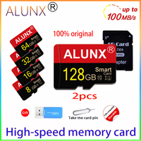 Memory Card 128GB Flash Memory Card 32GB 64GB 16GB 8GB 4GB For Surveillance, camera, drone, Phone, MP, MP4, Walkman