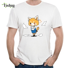 Aggretsuko T shirt Plus size 3D Print Tees Streetwear Cool Summer Camiseta
