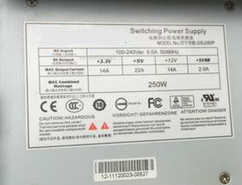For CWT Channel Well Technology DSJ250P Server Power Supply 250W PSU For Haikang Video Recorder Free Shipping