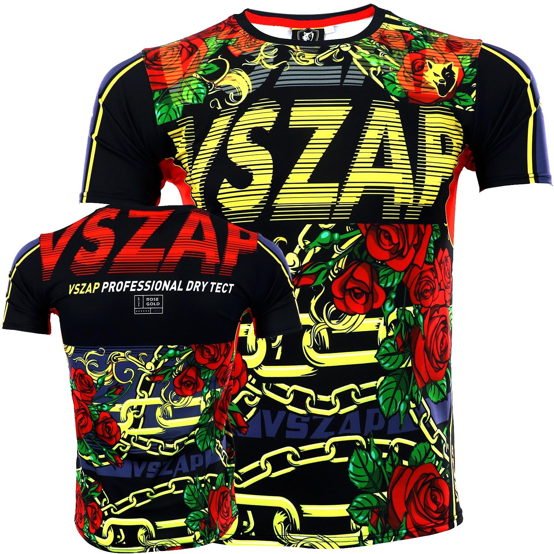 VSZAP Short Sleeved Rose Gold T-shirt Sport Sanda Thai Boxing  Fitness MMA Stretch Fast Dry Martial Arts Wind