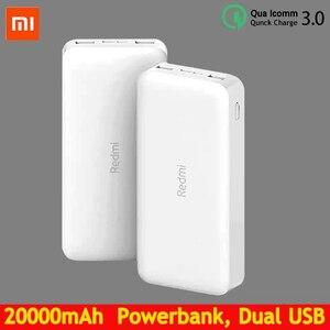 Портативное зарядное устройство Redmi Power Bank, 20000 мАч, быстрая зарядка, 10000 мАч, два USB порта, двусторонняя быстрая зарядка, внешний аккумулятор