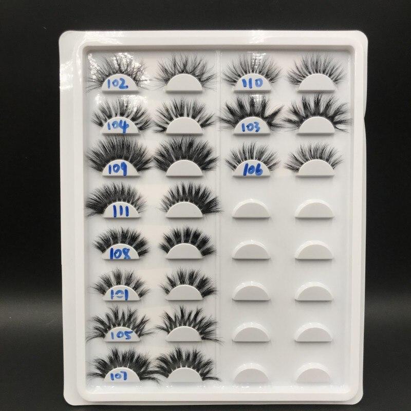 Nova faixa transparente cílios postiços vison cílios