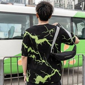 Image 5 - 2019 T Shirt Mens Hip Hop Dark Lightning Tshirt Streetwear Summer Cotton Harajuku T Shirts Short Sleeve Tops Tees Street Wear