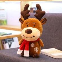Подарок на год, Рождественский олень, мягкие плюшевые игрушки для детей, милый олень, плюшевая кукла, рождественский подарок