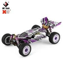 Wltoys 124019 rtr 1/12 2.4g 4wd 60km/h chassi de metal rc carro fora de estrada escalada caminhão veículos modelos crianças brinquedos