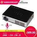 VIVICINE Più Nuovo 1280x800 Portatile 3D Android Proiettore 1080 p, DLP HDMI USB del PC WIFI Wireless Home Theater Mini Video Proiettore
