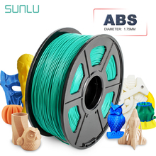 SUNLU 3D Printer Filament 1.75mm ABS 1kg 2.2lbs With Spool Plastics ABS 3D Printer Filament  Welding Rod With Delicate Packing