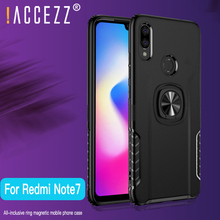 !ACCEZZ TPU Luxury Magnetic Ring Stand Mobile Phone Case For Xiaomi Redmi Note7 Cover Shell Magnet Finger Holder Cell
