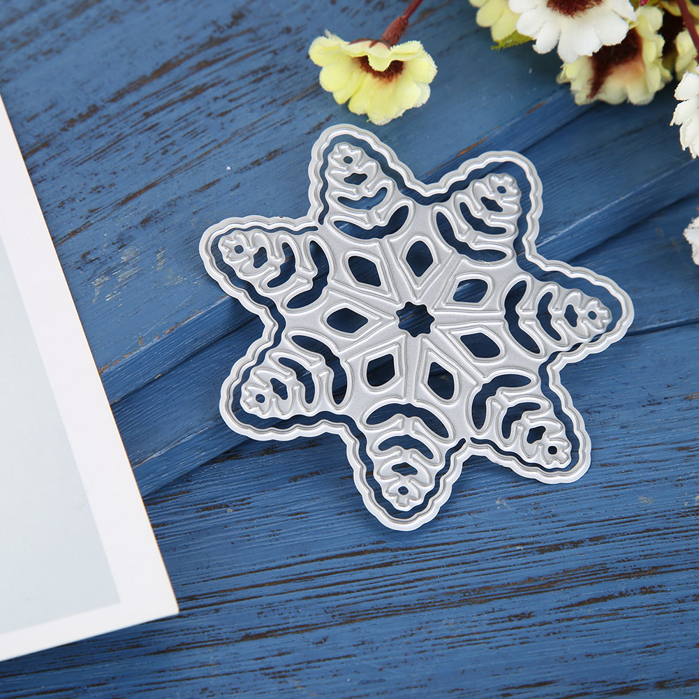 Cute Snowflake Hollowed Laciness Metal Cutting Dies For DIY Scrapbooking Crafts Card Album Making Embossing New 2019