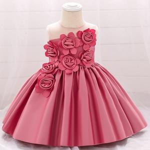Vestido de bautismo para niña recién nacida para verano del 2020, ropa para niña, vestido de boda de flores blancas, vestidos de princesa para niños de 1 er cumpleaños