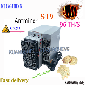 The New Asic AntMiner S19 95T BCH sha256 Bitcoin BTC Miner is Better than S17 T17 T19 Z15 K5 M30S M31S M20S M21S T3 T2T A1 A10 1