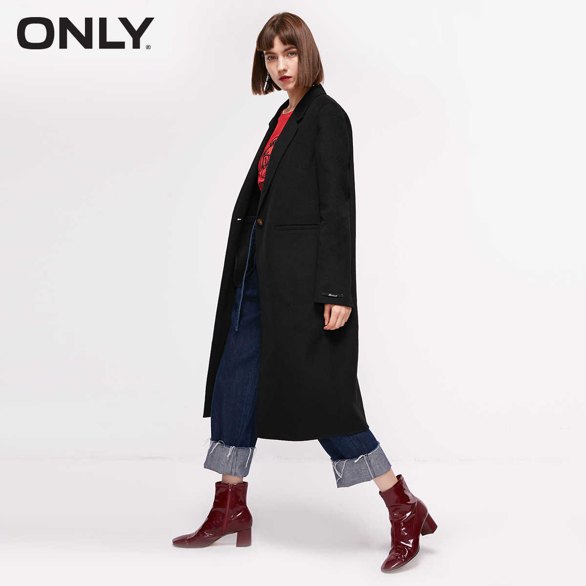 Women's Mid-length Two-faced Woolen Coat  | 11836U501