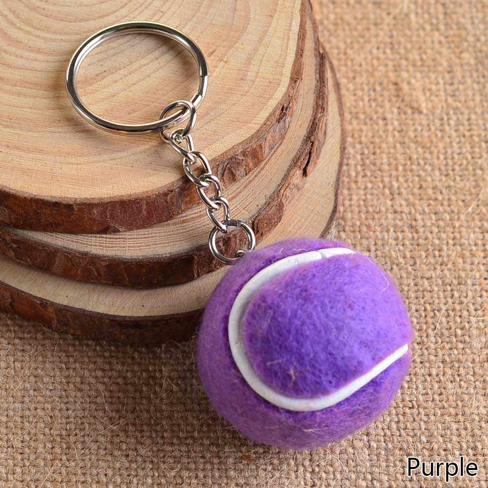 6 Color  Pendant Tennis Rackets Keychain With Ball  Fashion Accessories  Souvenir Gift Key Ring