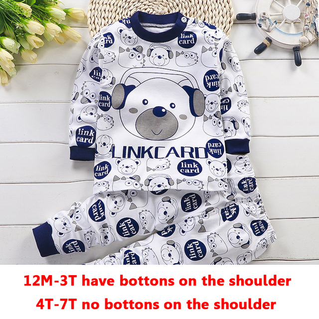 Children Pajamas Baby Clothing Set Kids Unicorn Cartoon Sleepwear Autumn Cotton Nightwear Boys Girls Animal Pyjamas Pijamas Set 2