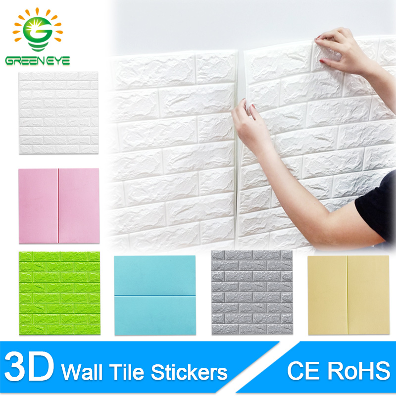 3D Wall Stickers Marble Brick Peel and Self-Adhesive Wall paper Waterproof DIY Kitchen Bathroom Home Wall Decal Sticker Vinyl 1