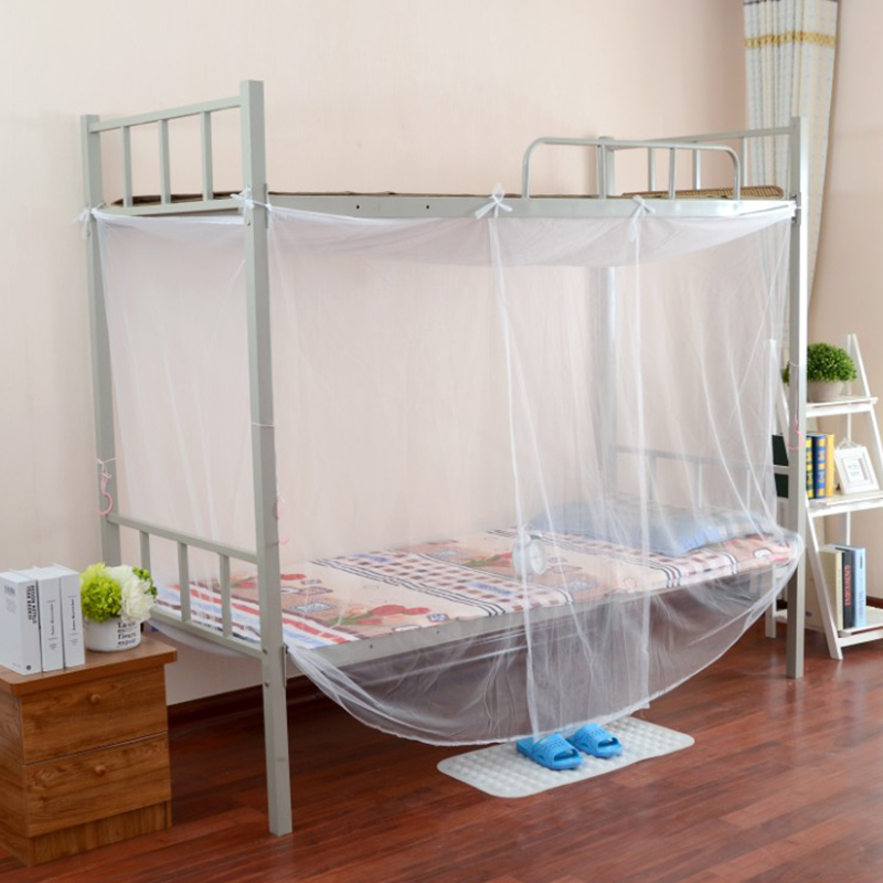 Simple Solid Color Student Dormitory, How To Put Mosquito Net For Bed
