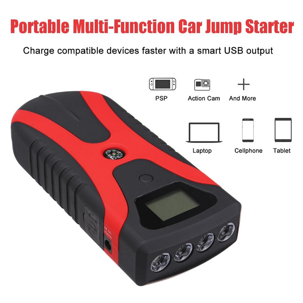 180A Tragbare Multi Funktion Power Auto Starthilfe Notfall Licht Tragbare Auto Batterie Booster Ladegerät Mit USB schnelle lade - 4