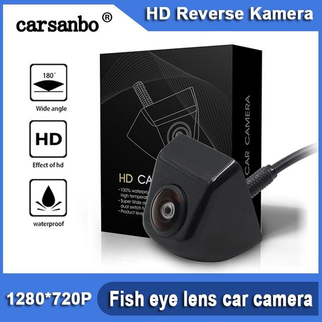 HD 180 stopni obiektyw rybie oko Starlight Night Vision widok z tyłu pojazdu kamera cofania niski poziom światła 15m widoczna kamera samochodowa
