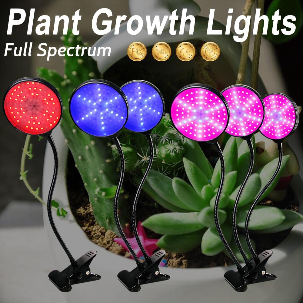 LED For Plants LED Plant Grow Light Bulb Withe Light DC5V 15W 30W 45W Flexible Clip USB Power Supply Chambre De Culture Indoor