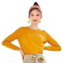 SEMIR 2019 kaszmirowy sweter z dzianiny damskie swetry z golfem jesień zima podstawowe kobiety swetry koreański styl Slim Fit czarny tanie tanio 69 5 Cotton30 5 nylon Bawełna Komputery dzianiny Pełna Stałe O-Neck Regularne Brak Standardowych Na co dzień 19008070437