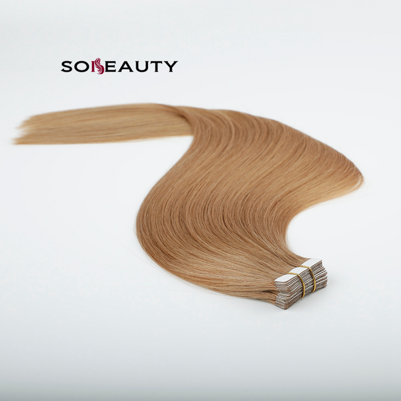 Sobeauty Straight Skin Weft Adhesive Hair Machine Remy Tape In Human Hair Extensions 20