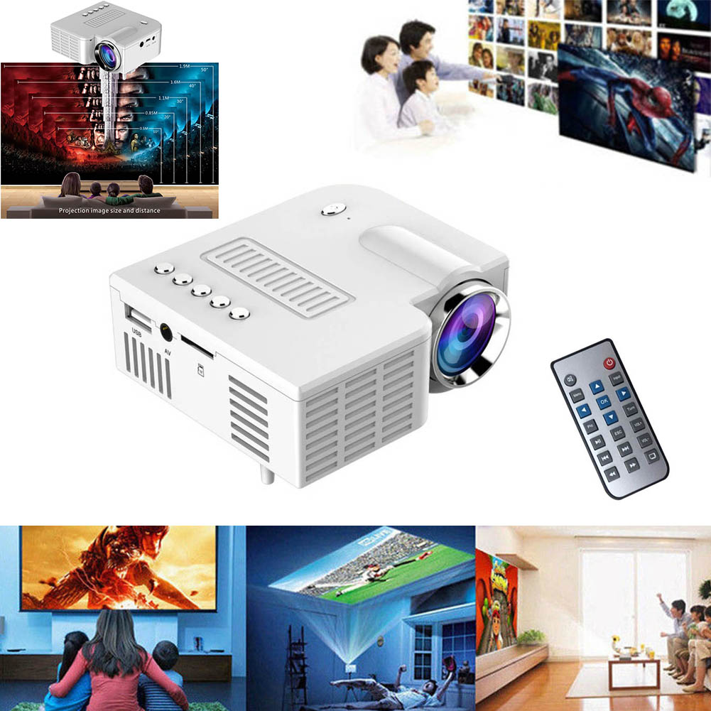Newly Portable UC28 PRO HDMI Mini LED Projector Home Cinema Theater AV VGA USB 999