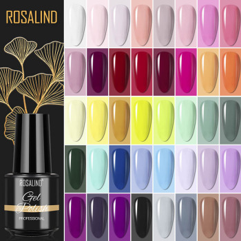 ROSALIND Gel Polish Semi Permanent Gel Varnishes All For Nails Manicure Classic Color Gel Nail Polish Primer Nail Art Gellak 1