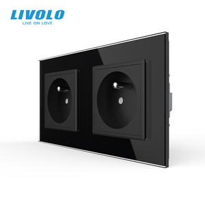 Image 3 - LIVOLO 16A French Standard, Wall Electric / Power Double Socket / Plug, Crystal Glass Panel,C7C2FR 11/12/13/15, no logo