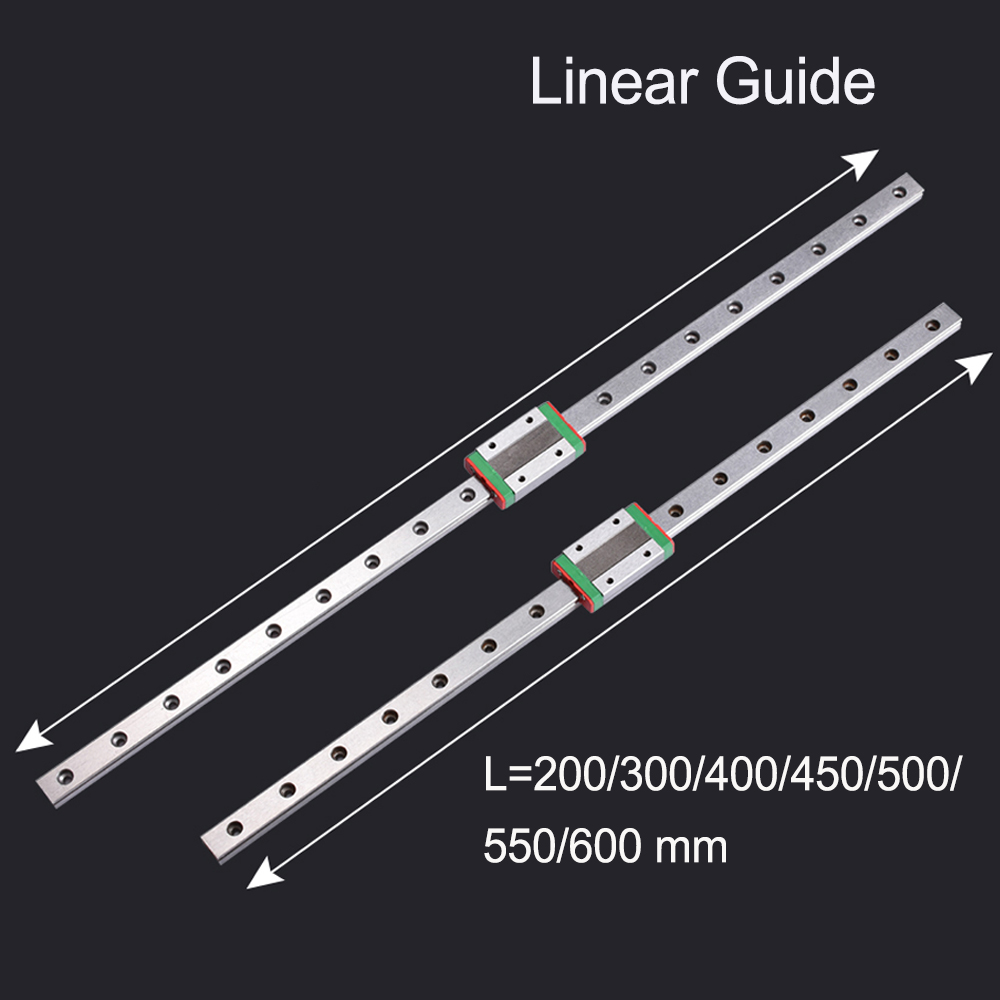 <font><b>3D</b></font> <font><b>Printer</b></font> Parts Linear Guide MGN12C MGN12H L=200 300 400 450 <font><b>500</b></font> 550 600MM Linear Rail Slide CNC Parts With Linear Carriage image