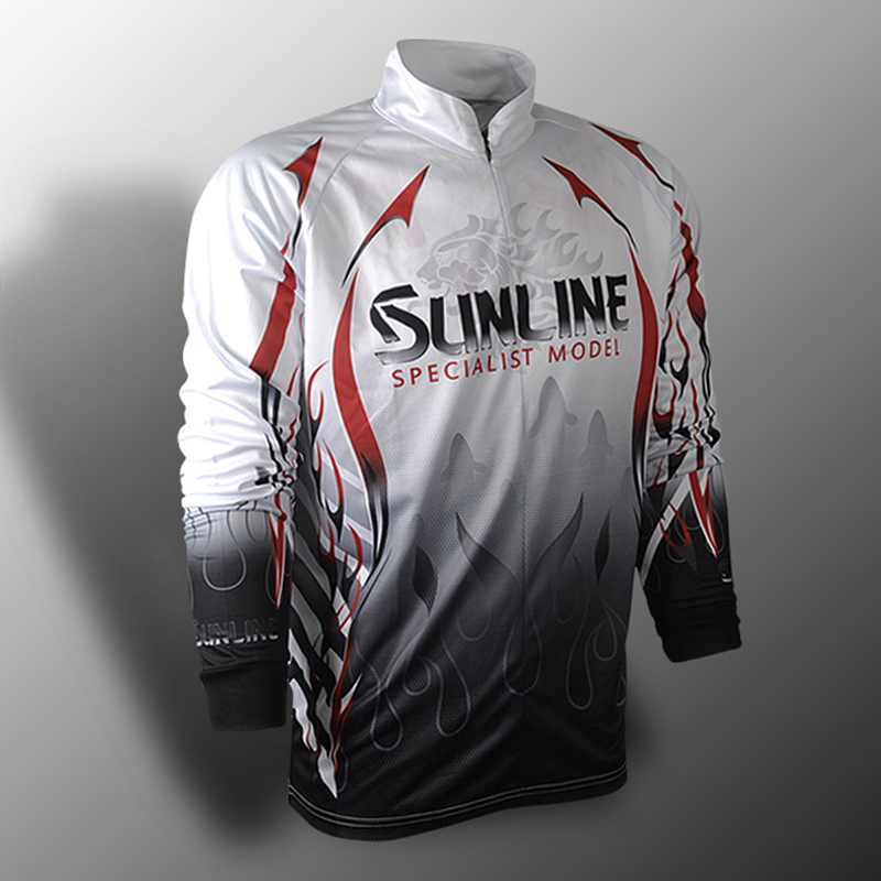 Sunline Summer Fishing Shirt Long Sleeve Fishing Clothes Breathable Quik-Drying Anti-UV Outdoor Sports Fishing Clothing