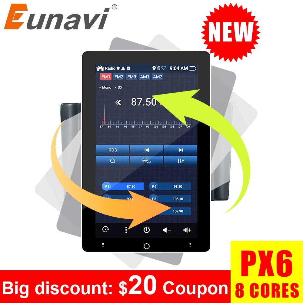 Eunavi 2 din auto radio dvd für universal stereo 2din ips TDA7851 große touch Elektrische dreh bildschirm multimedia-player gps 4G 64G
