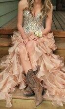 Роскошные розовые платья Стразы для выпускного вечера 2020 сексуальные
