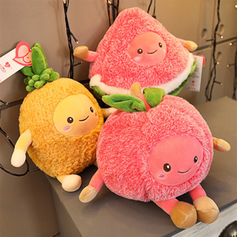 Explosive Avocado Plush Toy Fruit Doll Cherry Soothing Doll Pillow Watermelon Doll Creative Birthday Gifts Girl Decortions JM397