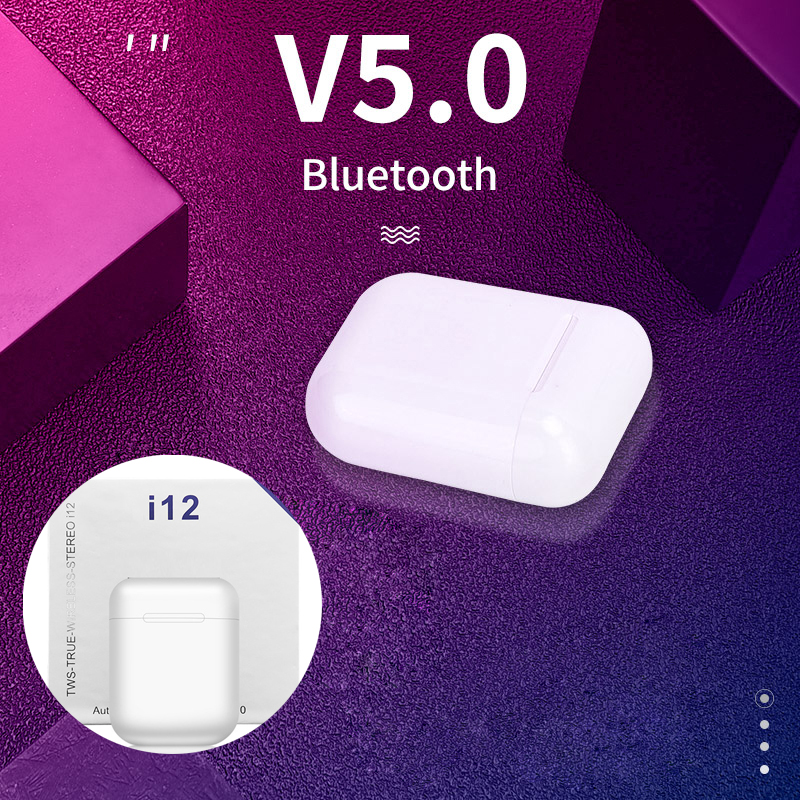 i12 tws Bluetooth Earphone Wireless Earbuds Hands free Business Earpieces Sport Headset music