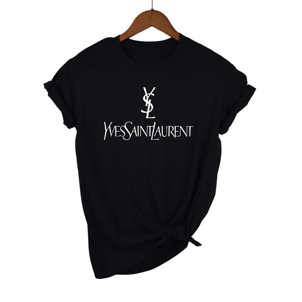Женская летняя футболка, брендовые футболки с надписью «х/б футболки с принтом, рубашка с динными рукавами Брендовые женские с О-образным вы...
