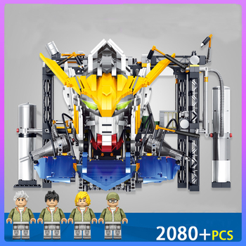 new transformation super giant robot mecha gundam model lepinings technic rx78 2 fixed building block brick christmas toy Gundam Toy Series LegoINGly Giant Warrior Action Figures Robots Head Model Technic Building Blocks Creator Bricks Children Gifts