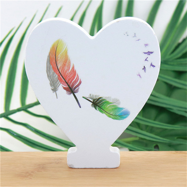1pc 10cm Wooden Letters Alphabet Name Word Letter Standing Feather DIY Design Height Art Crafts Home Party Decor 3.94 Inches 5