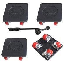 4 pces que movem a dolly resistente com a roda universal, para o controle deslizante movente do dispositivo da mobília, capacidade de carga de 350 libras