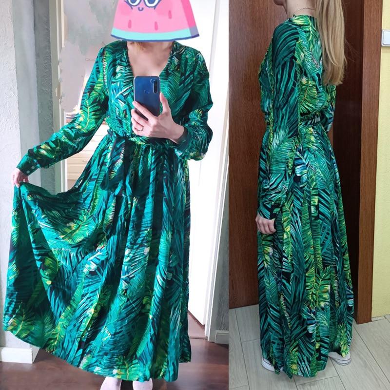 AECU Vestido Floral Print Boho Maxi Dress Sexy Lady Bohemian Summer Long Dress Women Beach Dresses Female Robes party dresses