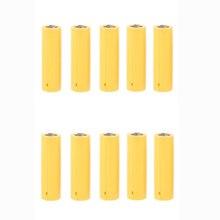 10 pces aa aaa tamanho manequim falso configuração da bateria escudo marcador cilindro condutor
