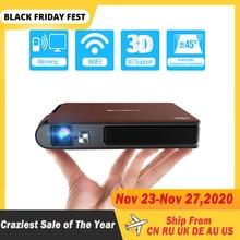 S6W Wifi Mini portable 3D obturateur projecteur intelligent Wifi poche DLP 8400mAh batterie Support HD 1080P Miracast proyector para movil