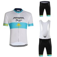 2020 Astana Kazakhstan Cycling Jersey Set KAZAKH Champion Cycling Clothing Men Road Bike Shirts Suit Bicycle Shorts MTB Maillot(China)