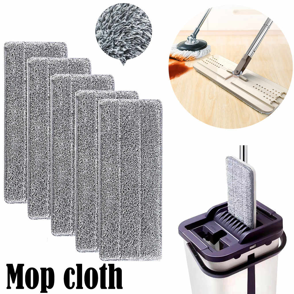 Reusable Microfiber Pad Washable Mop Heads Flat Mop Replacement Cleaning Pads