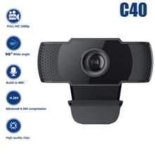 USB Webcam Microphone Computer Web-Camera Live-Broadcast 1080P Laptop Video-Teaching