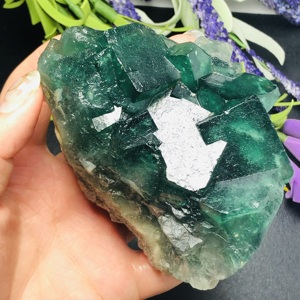 Natural Fluorite, Raw Stone, Quartz Crystal, Coarse Mineral Specimen, Treatment Malachite Home Decoration