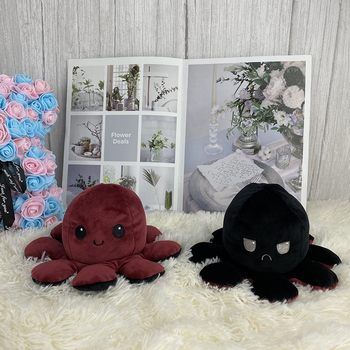 12 Colors Octopus Pillow Stuffed Toy Dolls Soft Simulation Reversible Octopus Plush Doll Cute Children Kids Toys Home Decoration cute simulation french fries pillow dolls