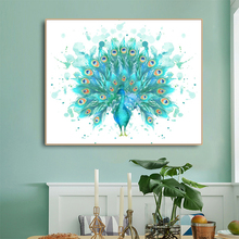 Peacock Abstract Canvas Painting Calligraphy Unique Gift Home Living Room Bedroom Decoration Modern Wall Artwork Picture