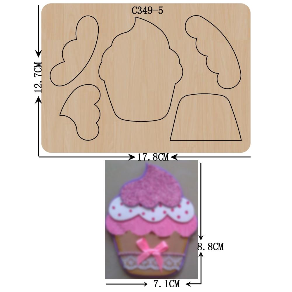 Nouvelles matrices de découpe de C-349-5 de Scrapbooking en bois de crème glacée compatibles avec la plupart des machines de découpe