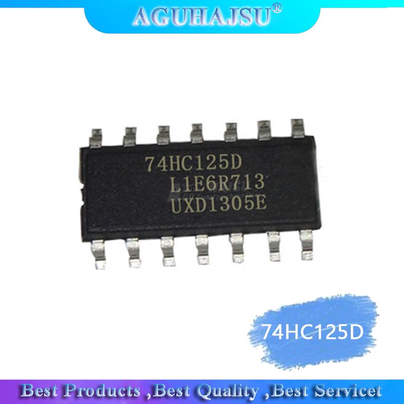 10pcs/LOT <font><b>74HC125D</b></font> 74HC125 SN74HC125D SOP-14 Buffers & Line Drivers QUAD 3-ATE BUS BUF new original image