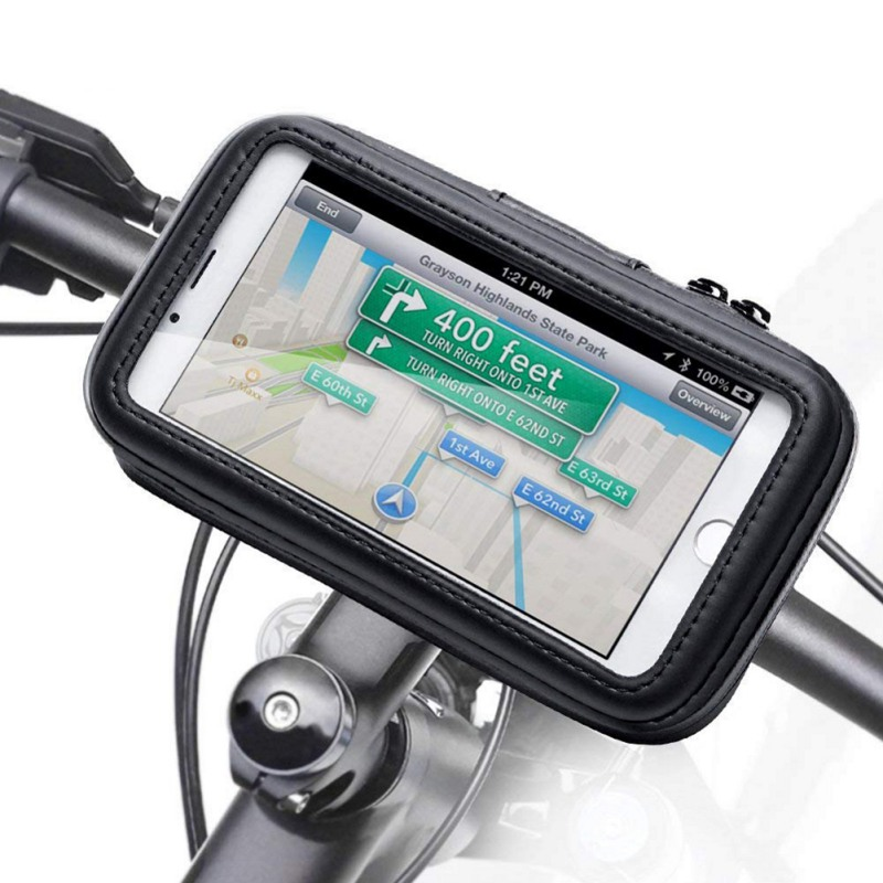 Riding Navigation <font><b>Phone</b></font> Bag <font><b>Bike</b></font> <font><b>Phone</b></font> <font><b>Holder</b></font> Bag Bicycle Mobile <font><b>Phone</b></font> Case Waterproof Shell 360 Degree Rotation <font><b>Phone</b></font> Stand image